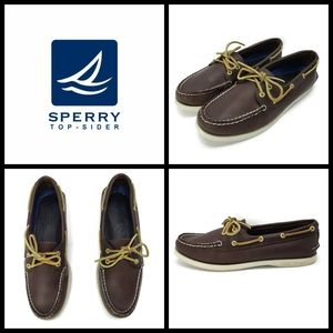 Womens Sperry boat shoes, size 9.5, leather, preow
